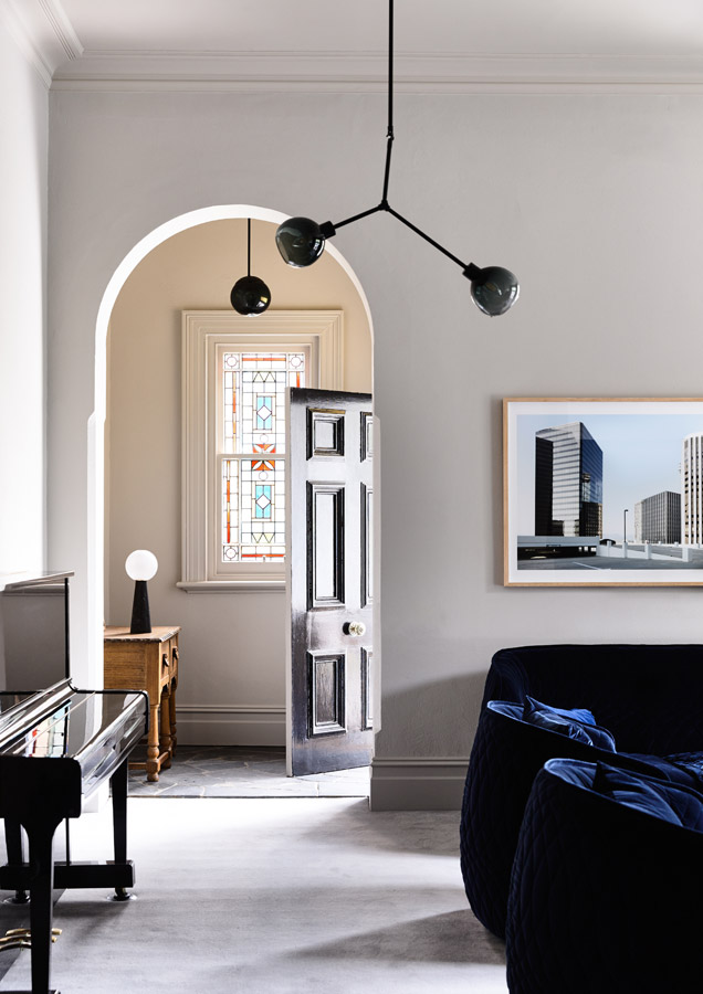 Overend Constructions, Belmont House, front door-entry feature, lounge view
