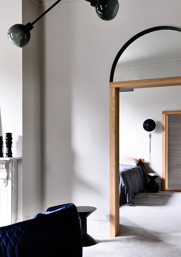 Overend Constructions, Belmont House, lounge doorway modern arch feature