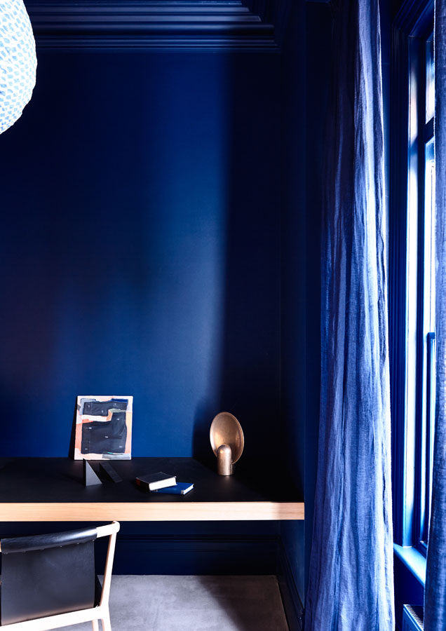 Overend Constructions, Belmont House, blue study