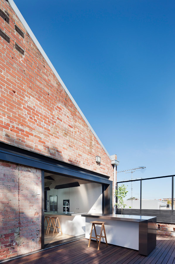 Overend Constructions, Water Factory, outdoor dining, deck, Andrew Simpson Architects