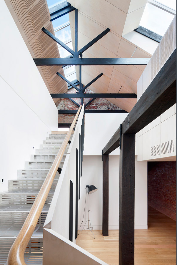 Overend Constructions, Water Factory, staircase feature, Andrew Simpson Architects