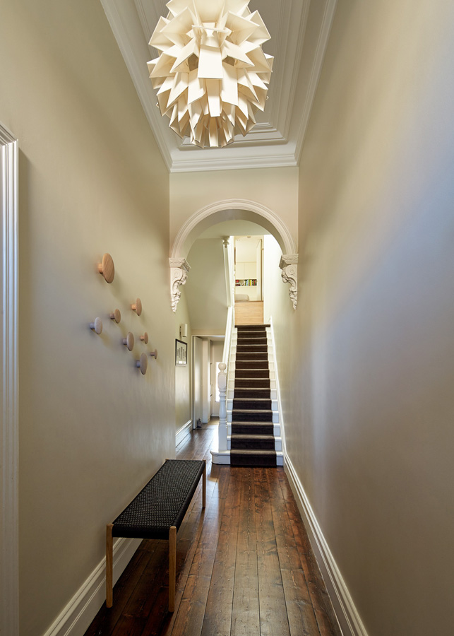 Overend Constructions, Bower, renovation, hallway, heritage and modern, Andrew Simpson Architects