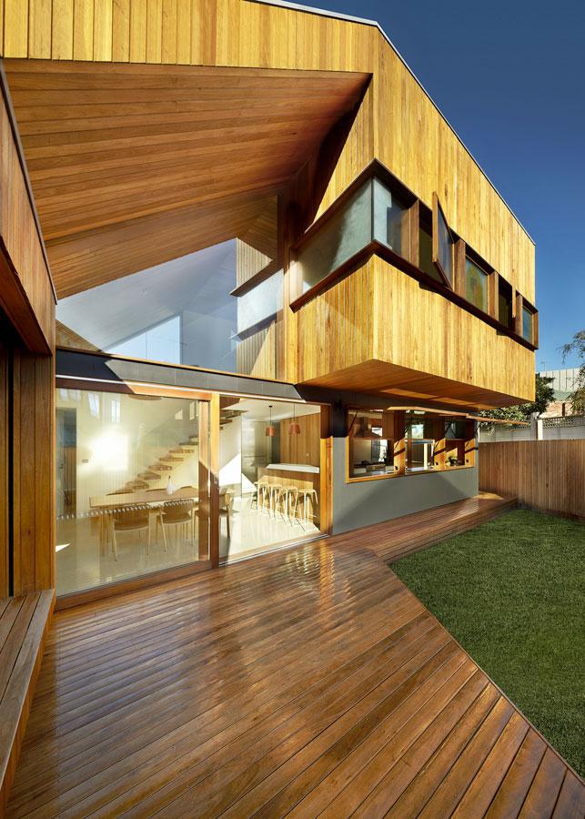 Overend Constructions, Fenwick, JFA, exterior facade, timber cladding, glass sliding doors, cantilever room