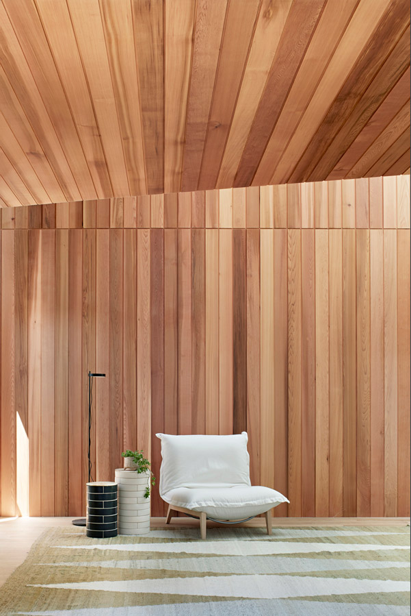 Overend Constructions, Hatherlie, natural timber interior feature, Andrew Simpson Architects